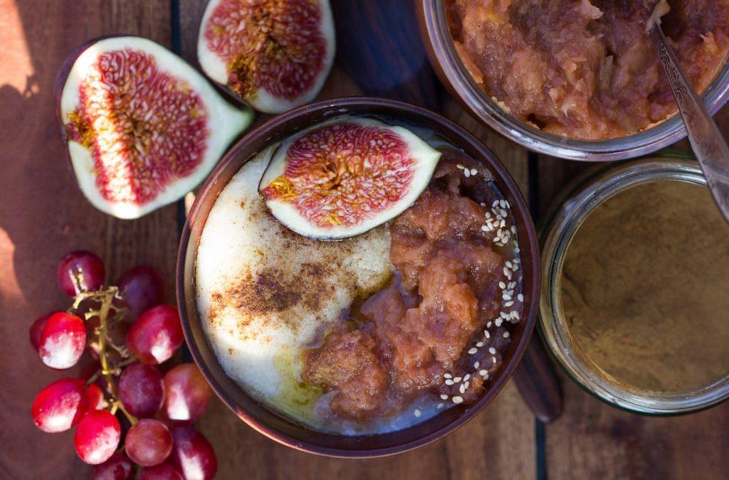 Porridge mit ofengeröstetem Apfelmus